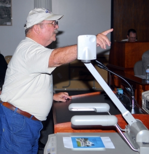 Fillmore resident and former Mayor Gary Creagle protested loudly concerning the several unfunded state mandates at Thursday's special city council meeting. If all the new state requirements, including the water treatment plant, possible chloride control plant, new flood control demand threats, and new surface water treatment requirements are all implemented, the City of Fillmore could find itself wiped-out financially.