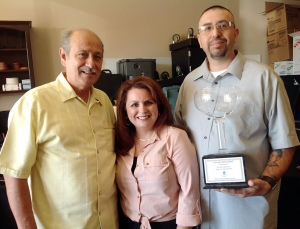 Mr. Melgoza Theresa Robledo/VP SI of Fillmore and Hugo Torres from Vallarta Restaurant in Fillmore.
