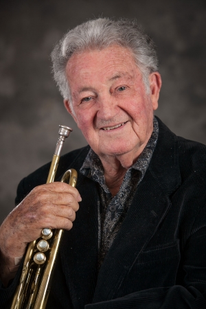 Elmer Ramsey and his trumpet. Photo credit: Brian Stethem/CLU
