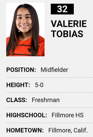 Valerie Tobias, #32 for the Oregon State University Beavers.