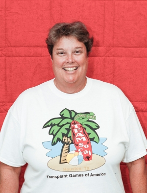 Marjie Bartels, transplant recipient, participated in the 2014 Transplant Games of America.