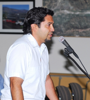 City Council candidate Adrian Grimaldo addresses the city's high water and sewer rates.