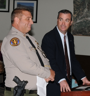 Incoming Chief of Police, Captain Dave Wareham was introduced at Tuesday night's council meeting by City Manager David Rowlands.