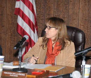 Virginia de la Piedra was named the new Fillmore Unified School Board President at Tuesday's meeting.