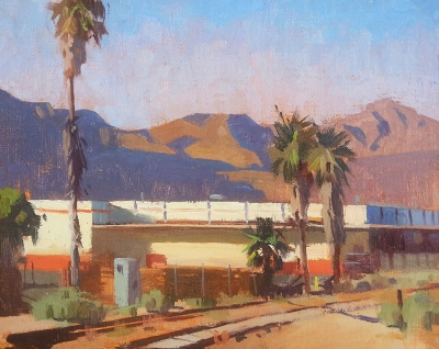 """Piru View"" by James Martin, oil on linen, 8"" x 10"", Collection of the artist."