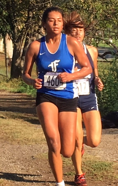 Pictured above is Flashes Senior Vanessa Avila who placed 6th at the Eagle Invitational this past Saturday in El Segundo. Photo courtesy Coach Kim Tafoya.