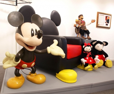 Mickey Mouse -OVMuseum Installation Detail: Valerie Greenberg Collection, Mickey Mouse & Disney