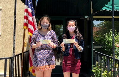 On Thursday, May 28th Post Commander James Mills, Fillmore VFW Post #9637, awarded checks to two Fillmore High