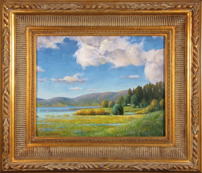 """Lake Casitas"" by Tony Jankowski, oil on board, 11"" x 14""."