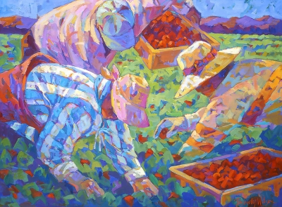 """One at a Time"" by Beverly Wilson, oil on canvas"
