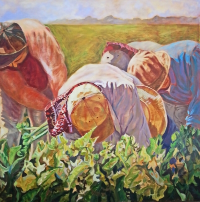 """Celery Harvest"" by Roxie Ray, acrylic on canvas"