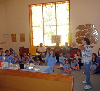 Children attended each day from 9:00 am. to 12:00 noon.