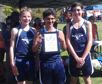 (Youth Boys) (l-r) Colin Richter, Joaquin Rodriguez and Steve Jump