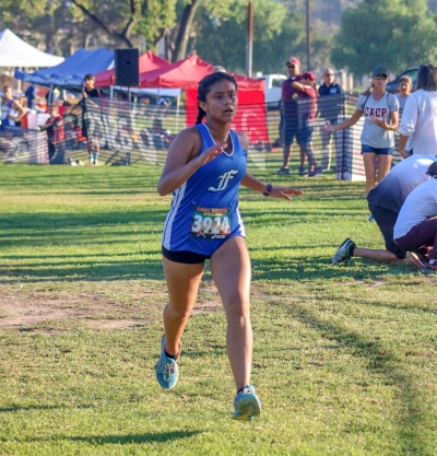 Sophomore Emma Orozco placed 33rd with a running a time of 23:47.6 in her first race at the Cool Breeze Invitational.