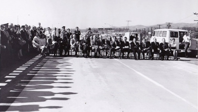The Grand Opening of the Freeway Portion of Highway 126 in 1965 ending in Santa Paula. By 1971 studies were undertaken to determine the feasibility of completing the highway from Santa Paula to Hwy 5 at Castaic.