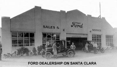 Fillmore Ford Dealership circa 1929.