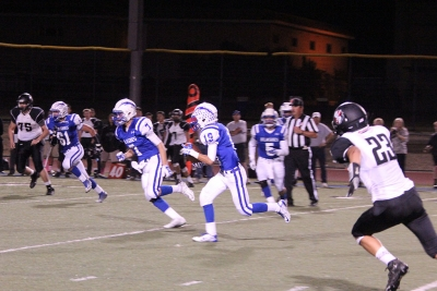 #19 Bryca Farrar intercepts a pass