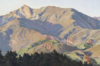 """Over the Tree Tops"" by Gail Pidduck, oil on canvas, 24 x 36 inches, Collection of the artist."