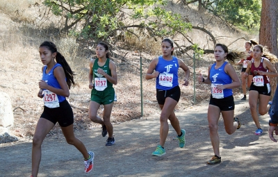 CIF Prelims (L to R): Irma Torres (9th), Maria Villalobos (12th) and Jordyn Vassaur (11th).