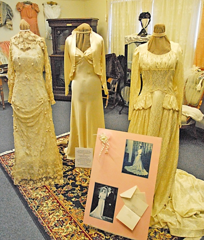 The Fillmore Historical Museum is displaying vintage wedding dresses and photos from 1886 to the 1960s, 340 Main Street, Fillmore. Call for hours.