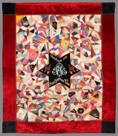 1884 Crazy Quilt – Private Collection - Photograph by Roger Conrad