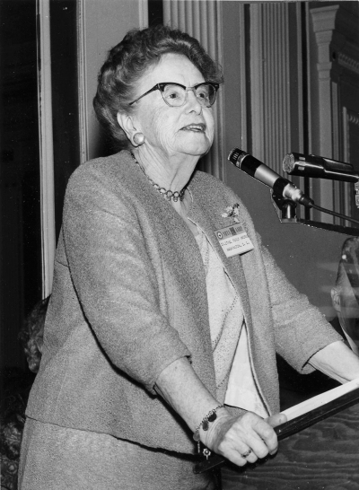 DR. ETHEL PERCY ANDRUS: Educator, Social Innovator, Humanitarian - Dr. Ethel Percy Andrus, Founder and President of NRTA-AARP, testifying before the Kefauver Committee on Hearing Aids, April 19, 1962.