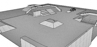 Shown is an example of a small skate park design. No actual design concept has been made available.