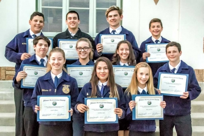 2016 Ventura County Fair Fillmore FFA Participants were also recognized for their participation at this past years Ventura County Fair. Photo by Bob Crum.