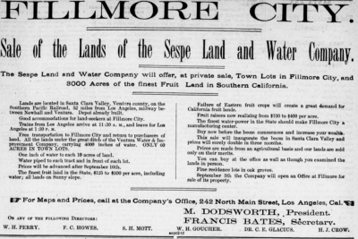 Los Angeles Herald 22 September 1887 Advertisement for lots and acreage.
