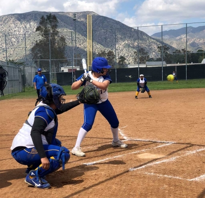 Flashes batter #13 Janeah Castro as she bats against Lakeview's pitcher in their game last Saturday. Photo courtesy