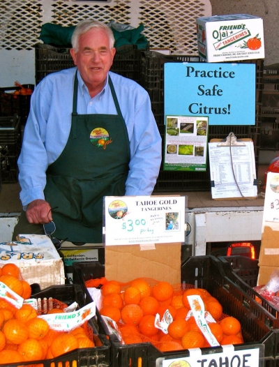 Tony Thacher at Hollywood Farmers' Market – 2012. Photo courtesy of Thacher Family Archive.