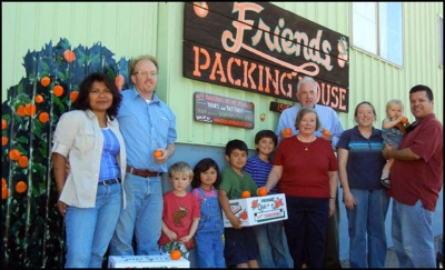 Tony and Anne Thacher and Family members at Friends Packing House. Photo courtesy of Thacher Family Archive.