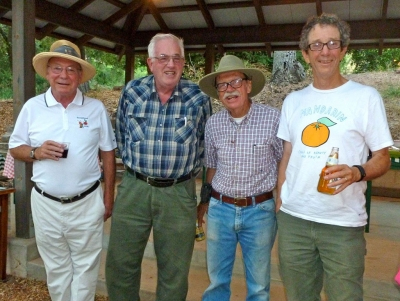Original organizers of Ojai Pixie Growers Association (left to right: Bob Davis, Tony Thacher, Mike Shore, and Jim Churchill. Photo courtesy of Thacher Family Archive.