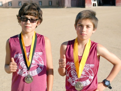 Pictured (l-r) Daniel Barajas and Thorin Rosten – 4th and 5th in boys 3200.