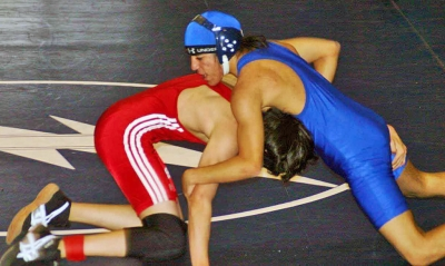Michael Ramirez competes against Santa Paula during the CIF individual match.