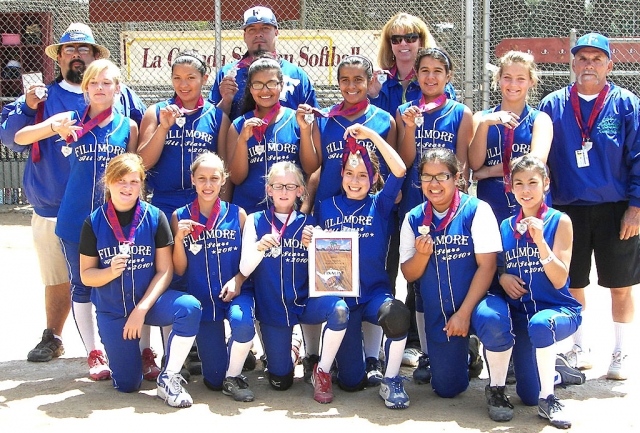 Fillmore 12-U All-Stars placed 2nd at the ASA District Tournament Fourth of July weekend. The girls did well throughout the weekend against teams from Mid Valley, La Canada and Sylmar. They will now go on to represent Fillmore at the State Tournament to be held July 16-18 in Camarillo.