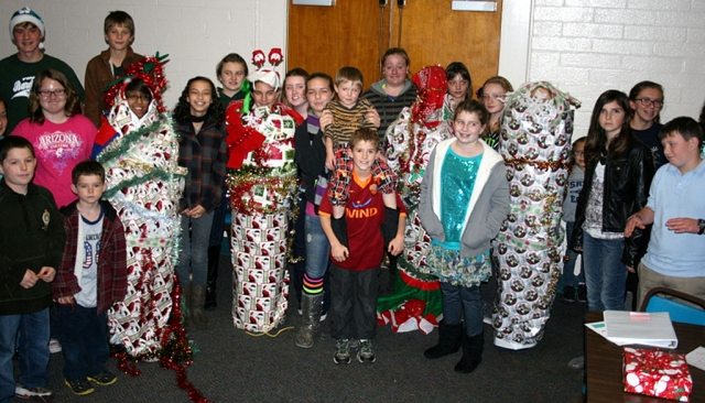 Bardsdale 4H members wrapped up some of their friends at their annual Christmas Party held Monday, December 17th.