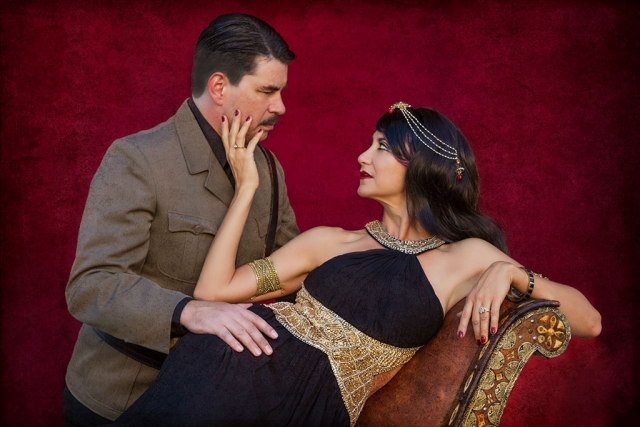 Shad Willingham as Antony and Cynthia Beckert as Cleopatra