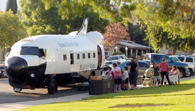 Students and families are enjoying The Space Shuttle Cafe on Back to School NIght, August 20th. San Cayetano began its second year as a NASA Explorer School. They are very excited about new opportunities this school year. The School's enrollment is higher than ever averaging 468-470 students. Scout Troop 406 did an incredible job this summer in landscaping a portion of the front of the school, we have a new cafeteria floor, tether ball court and grassy fields.