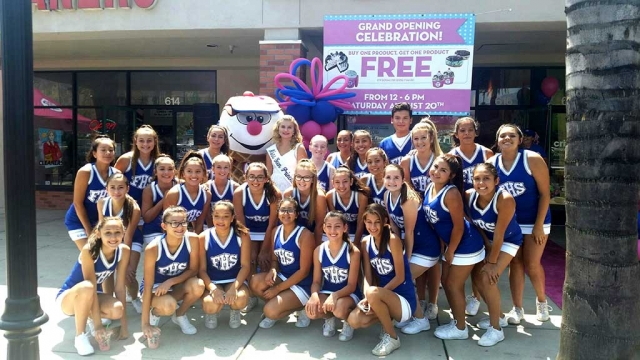Fillmore High School Cheerleaders along with Fillmore's Miss Teen Princess, Celebrated the Grand Opening of Fillmore's NEW Baskin Robbins, this past Saturday August 20th.