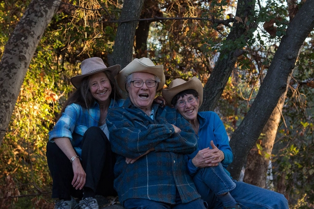 (l-r) Sally Carless, Phil Harvey and Myrna Cambianica. Photo by Sally Carless.