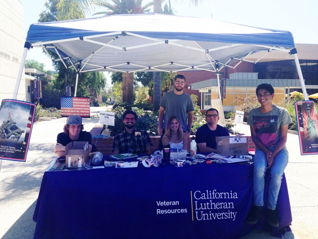 Members of Cal Lutheran's Military Veterans Club.