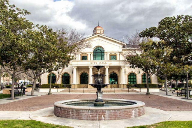 Stock photo of Fillmore City Hall taken by Bob Crum.