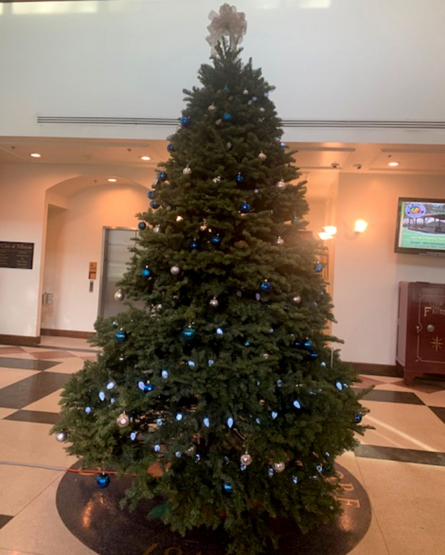 When in Fillmore City Hall you can view our Holiday Tree donated by the Fillmore Equestrian Center in partnership with Prancer's Village. As a reminder, City Hall will be closed on Wednesday, December 25th and Wednesday, January 1st.