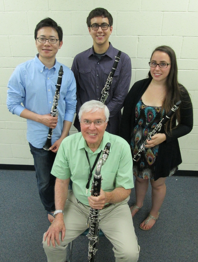 (top)(l-r) Hongsik Park, Hillis Johnson and Alyssa Gogesch, (front) Dan Geeting
