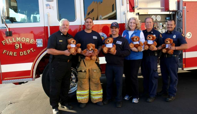 Fillmore Fire Department received a donation of 24 B.U.F.F.Y Bears that will provide comfort to children in times of distress and trauma from Assistance League of Ventura County. All Fire apparatus will be carrying these bears to be given to children in need. Assistance League is a nonprofit volunteer organization dedicated to the enriched of the lives of children in Ventura County and the betterment of their future and will be continuing to supply us as needed in the future.