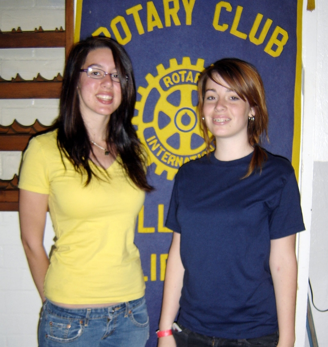 Emily Largey and Veronica Staples attended Rotary Youth Leadership Camp sponsored by the Rotary Club of Fillmore. Emily was awarded a $500 scholarship for leadership. They spoke at the Club meeting last Thursday.