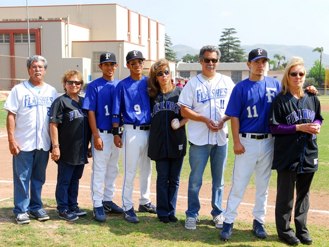 On Tuesday May 6, Flashes played their last home game against Santa Paula. The Seniors were honored by Coach Sandoval before the game and were recognized for their time and dedication to the team, with their parents by their side. Flashes Seniors are Jason Hurtado, Nick Hernandez and Raul Ramirez. Good luck boys.