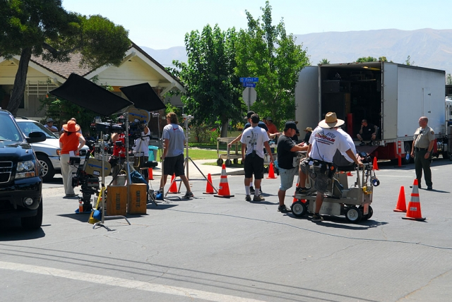 "CBS's ""Criminal Minds"" filming."