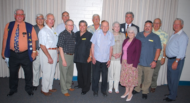 On Monday June 16, The Fillmore Lions Club held their installation dinner, pictured above but not in order is the newly elected board, Bill Edmonds, President; Bill Dewey, Vice-President; Walt Gonzalez, 2nd Vice President; Bill Baumgartner - 3rd Vice President; Scott Lee, Secretary, Dorsey Smith, Treasurer, Bob Perterson, Treasurer, Maggie Snyder, Lion Tamer, Paul Schifanelli, Monte Carpenter, Ron Smith, Mary Tipps; Directors, Jim Austin, Membership; and Jeff Roundy, Past District Governor.